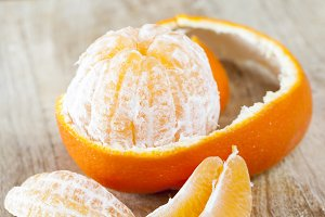 peeled juicy fruit