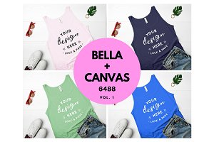 Bella Canvas 6488 Tank Top Mockup V1