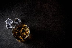 Two whiskey shot glasses