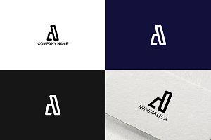 Letter A minimalist logo