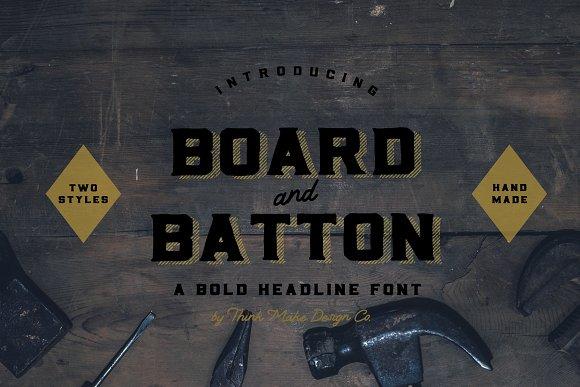 Board & Batton Font