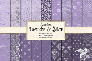 Lavender and Silver Digital Paper