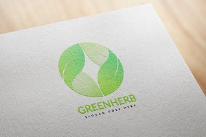 Green Herb Logo