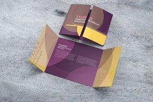11×25.5 Gatefold Brochure Mockups