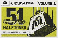 2-Ton Halftones Texture Pack by  in Textures