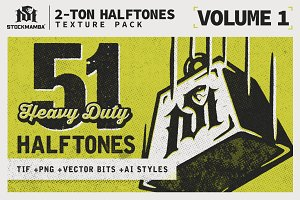 2-Ton Halftones Texture Pack