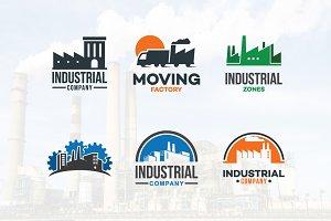6 Factory Industrial Company Logo