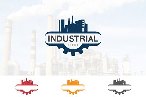 Industrial Factory Gear Logo