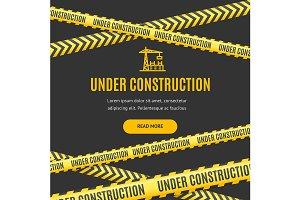 Site Under Construction Background
