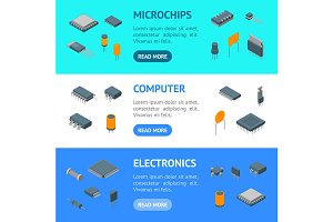 Microchip Computer Electronic Set