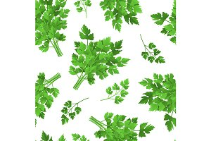 Parsley Seamless Pattern Background