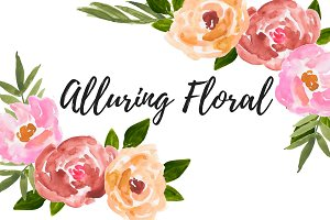 Watercolor flower floral clipart