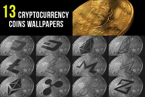 13 Cryptocurrency Coins Wallpapers