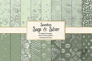 Sage and Silver Digital Paper