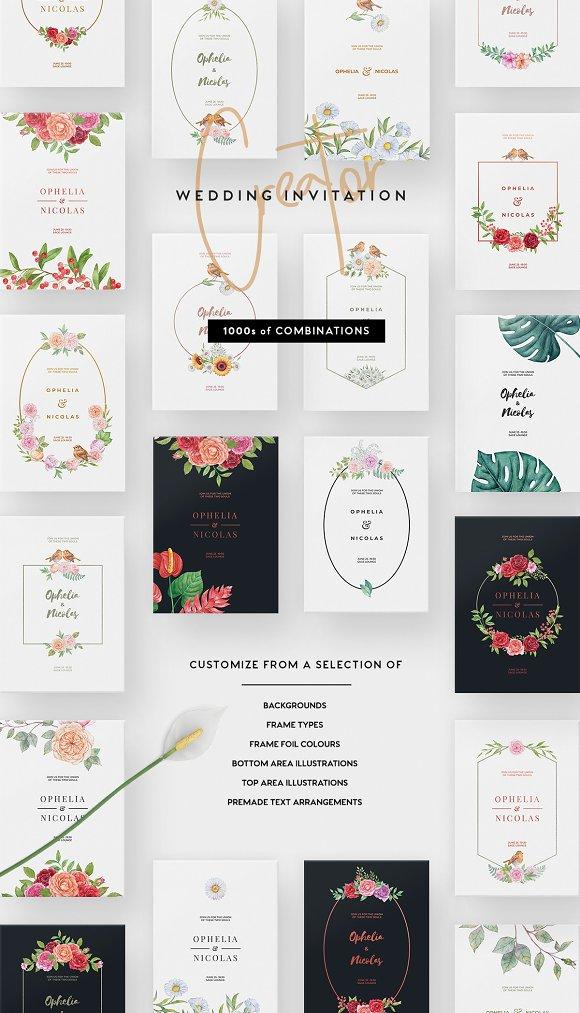 wedding invitation creator invitation templates creative market
