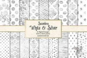 White and Silver Digital Paper