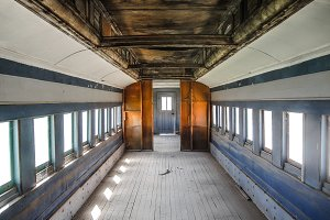 Old Wooden Railroad Car