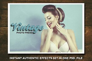 Vintage Photo Press + Freebies