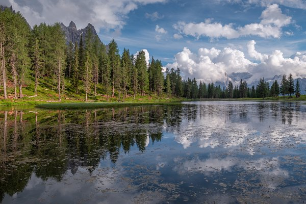 Lake Antorno in the Dolomites