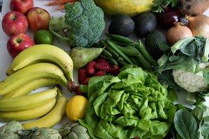 Veggies and Fruit closeup