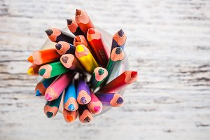 Various colour pencils
