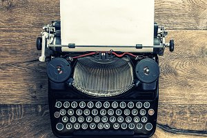Antique typewriter vintage toned