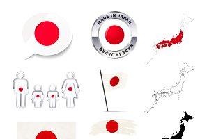 Japan infographics elements