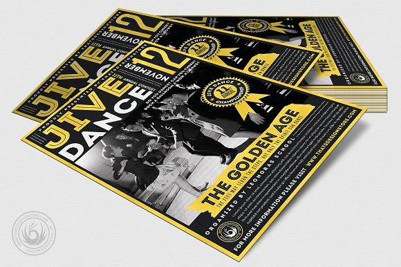 Jive Dance Flyer Template ~ Flyer Templates ~ Creative Market