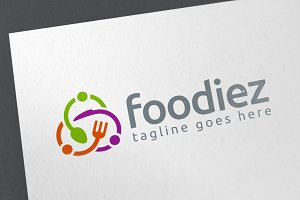 Foodiez Logo Template