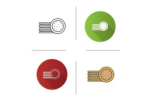 Sandwich cookies icon