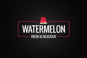 Watermelon border logo on black