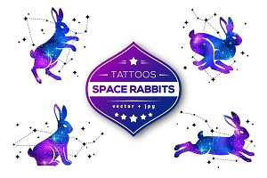 Space Rabbits Tattoos