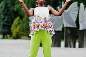 Amazing african american model woman