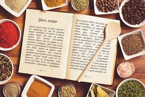 Recipe Book Mock-up #1