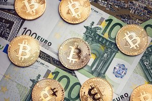 Bitcoins and euros
