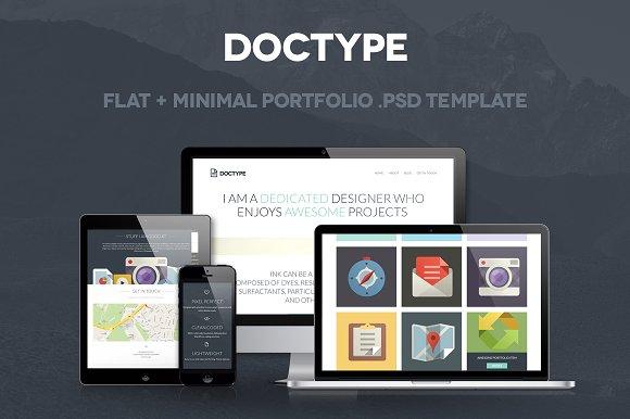 Doctype A Portfolio Psd Template Website Templates Creative Market