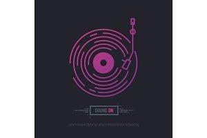 Vinyl disc record