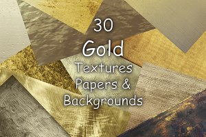 Gold textures and backgrounds