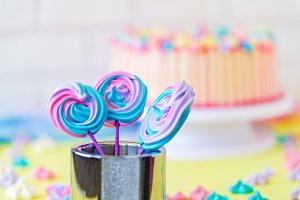 Lollipops Spiral Forms candy on pink