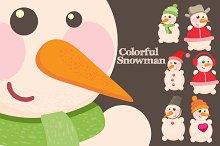 Colorful   Snowman