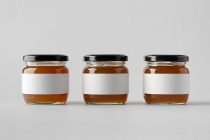 Apricot Jam Jar Mock-Up Blank Label