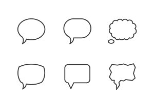 Set line icons of speech bubble