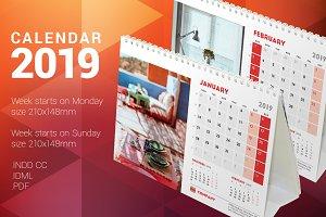 Desk Calendar 2019