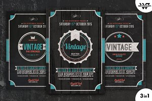VINTAGE Flyer Template Vol.4