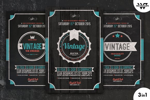 VINTAGE Flyer Template Vol.4 - Flyers