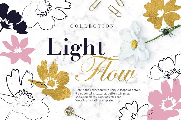 Illustrations and Illustration Products: Designnina Shop - LightFlow Collection