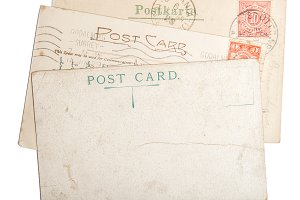 Old postcard mail Used paper texture
