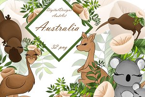Australia animals clipart