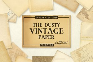 The Dusty Vintage Paper Pack Vol. 1