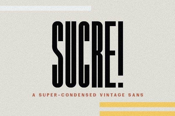 Sans Serif Fonts: Jen Wagner Co - Sucre | Vintage Condensed Sans